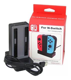Base De Carga Simultánea 4 En 1 Para Control Nintendo Switch