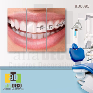Cuadro Decorativo 3 Pzs Dentistas #d0095 Alfadeco
