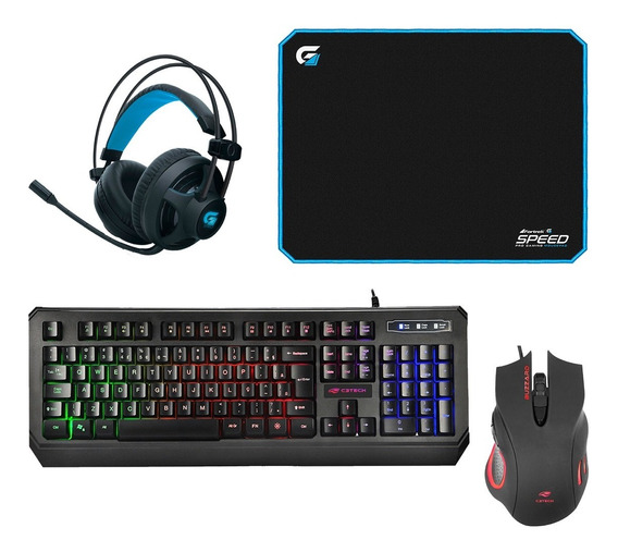 Kit Gamer Pc Barato Teclado, Mouse, Fone Usb Led + Mousepad