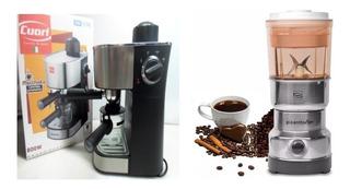 Kit Cafeteira Café Expresso + Moedor Café Cuori Itália 220w