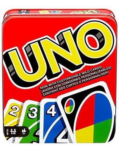 Mattel Games Uno: Classic (caja De Hojalata), Una Lata, Null