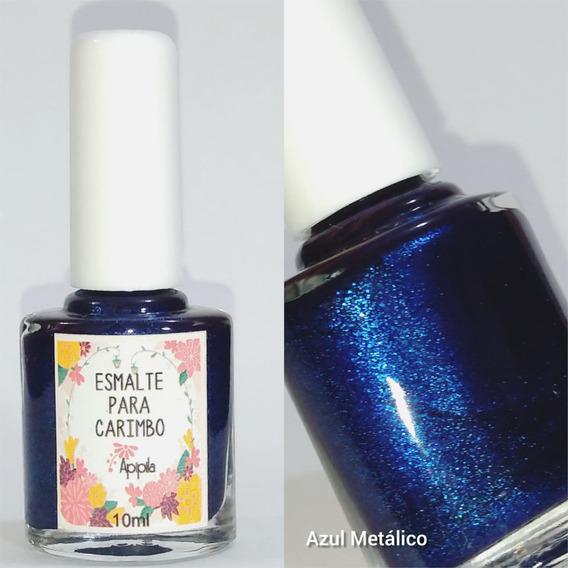 Esmalte Carimbo Apipila - Azul Metalico