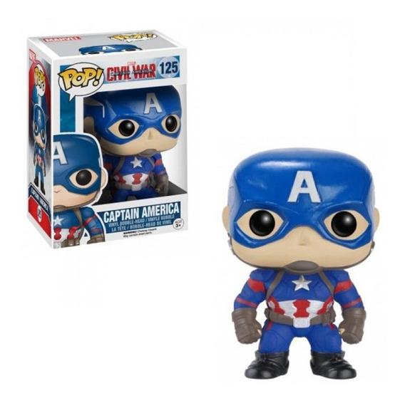 Funko Pop Marvel Civil War- Capitan America 125