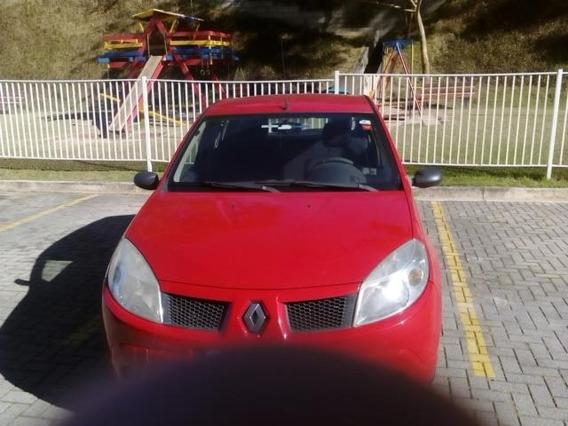 Renault Sandero 2009 Vermelho, Docs Ok, Pneus Novos, Bateria