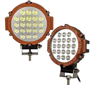 X2 Foco Neblinero Led 63w Redondo 21 Led Off Road / 206004