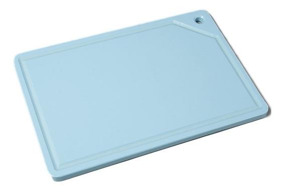 Placa Tábua De Corte Para Cozinha Azul 40 X 25 Cm Ref 452