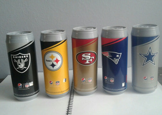 Nfl Termo Patriotas Inglaterra Steelers Vaquero Raider Pepsi
