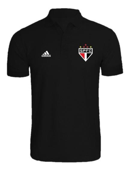 Blusa De Futebol Camisa Polo Time São Paulo Torcedor Tricolo