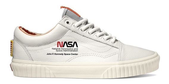 Tenis Vans Old Skool Low Nasa Space Voyager Branco Authentic