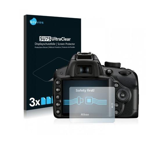 3pc Pelicula Lcd Câmera Nikon D3200 D3300 D3400