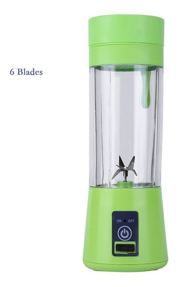 Mini Elétrica Juicer Frutas 2/4/6 Blades Squeezer Usb Máqu