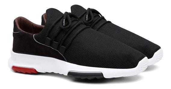 Tênis Sneaker Masculino Caminhada Calce Fácil Leve Conforto