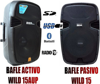 Bafle 15 Activo + Pasivo Moon 1200 Watts Mp3 Bluetooth Usb