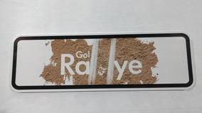 Placa De Propaganda Do Gol Rallye.