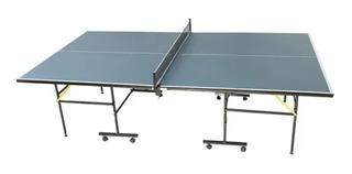 Mesa Ping Pong Profesional Plegable Tenis De Mesa + Paletas