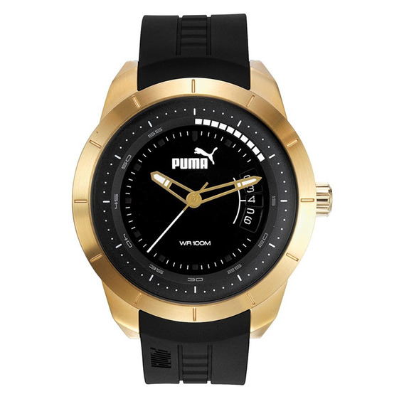 Reloj Análogo Marca Puma Modelo: Pu104191001 Color Oro / Neg