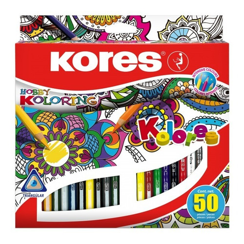 Colores Triangulares Kores X50 Mandalas Hobby Coloring