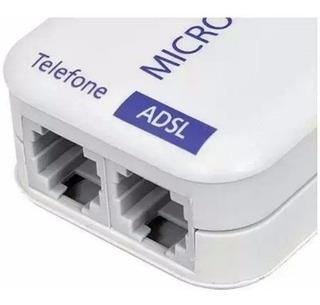 Filtro Duplo De Linha Adsl Rj11 Original Homologado Pela Anatel Utilizado Em Telefone E Modem
