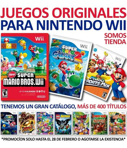 Juegos Originales Para Consolas Nintendo Wii, +de 400 Juegos