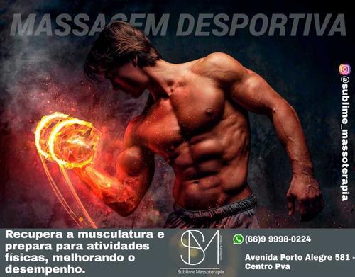 Imagem 1 de 9 de Massagens Terapêuticas Esportivas E Estéticas Contra Dores