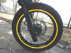 Friso Fita Adesivo Refletivo 10mm Brinde 8 Logos Marca Moto