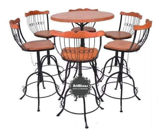 Conjunto Mesa E Cadeiras Bistrôs Área Gourmet Cozinha Luxo