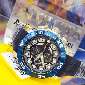 Relógio Invicta 28272 Azul Aço Inox Borracha - Sea Hunter