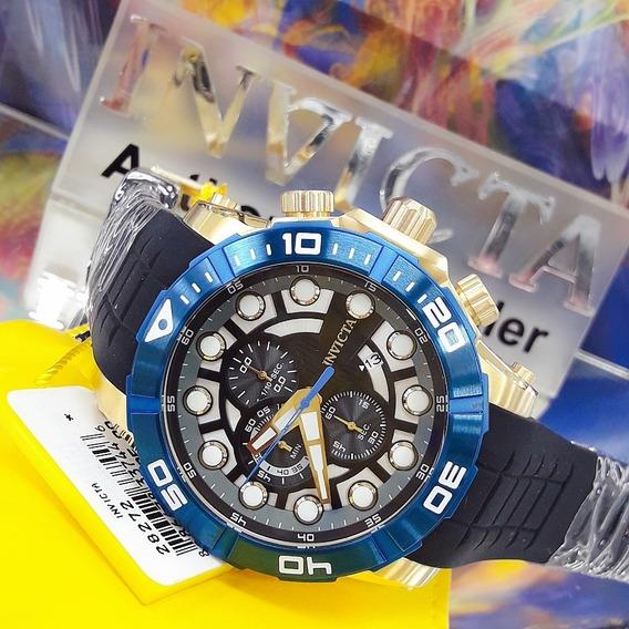 Relógio Invicta 28272 Azul Aço Inox Borracha ## Sea Hunter