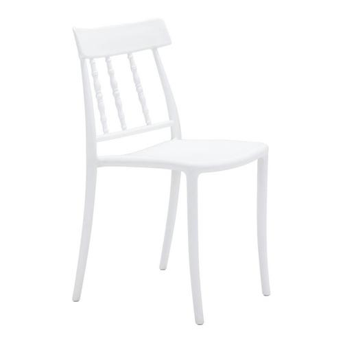 Silla De Comedor Modelo Rift - Blanco Këssa Muebles
