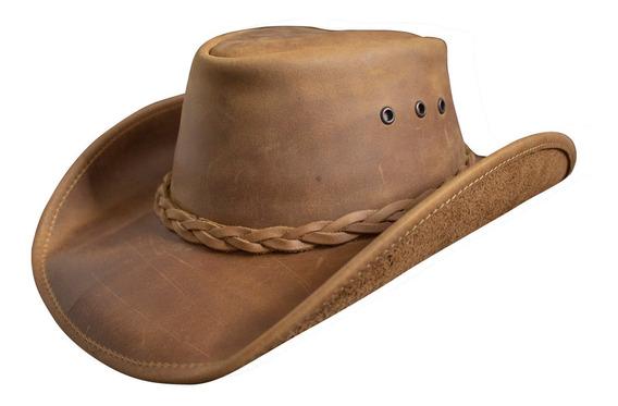 Sombrero De Piel Refaldeado