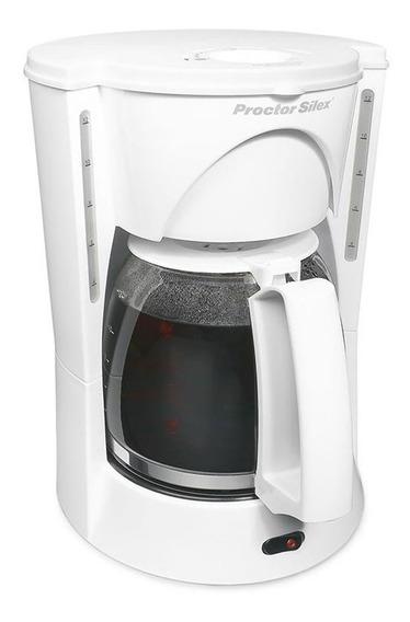 Cafetera 12 Tazas Blanca Proctor Silex 48521ry-mx