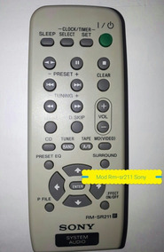 Controle Remoto Sony Mod Rm-sr211 Ohsony Rm-srb5