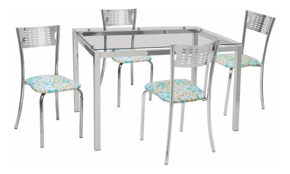 Conjunto De Mesa Com 4 Cadeiras Rafaela Sala Jantar-447b/336