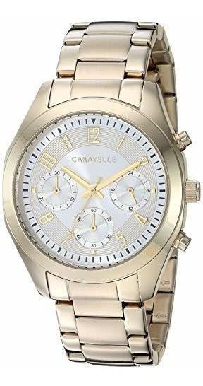 Caravelle New York 44l118 Reloj De Acero Inoxidable Dorado P