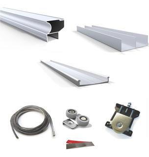 Kit De Placard Aluminio X3mts P/ 2 Puertas Corrediza