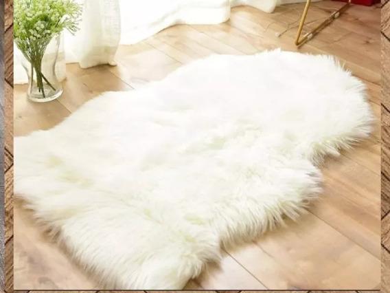 Manta Pelego 100 X 80 Branco Formato Recortado Promoção