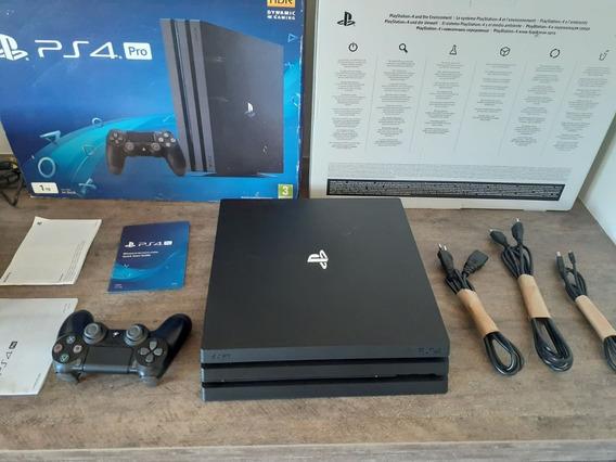 Playstation 4 Pro Ps4 Pro 4k 1tb + Caixa + 13 Jogos + Play 4