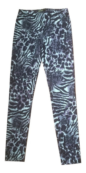 Calzas Leggings Animal Print Nuevas Gris