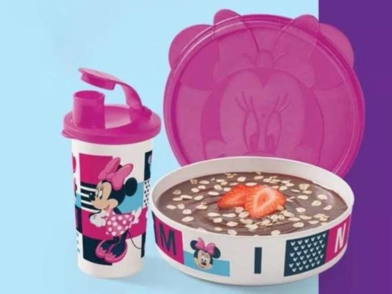 Conjunto Copo E Pratinho Infantil Minie Tupperware
