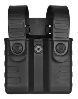 Porta Carregador Duplo Polímero Pistola Bélica Tab Lock
