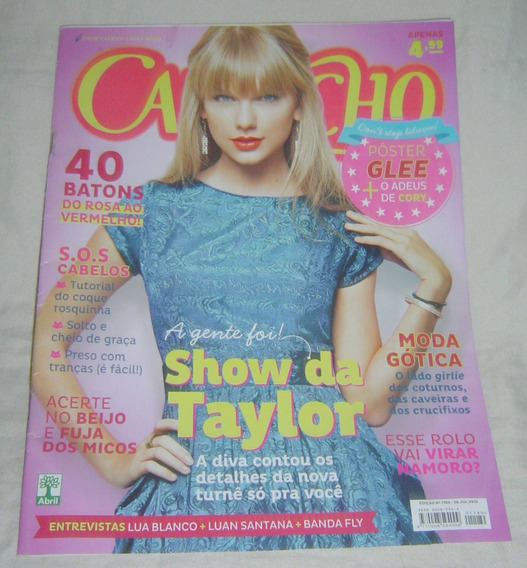 Capricho Nº1180 - Ano 2013- Taylor Swift - Poster Glee.