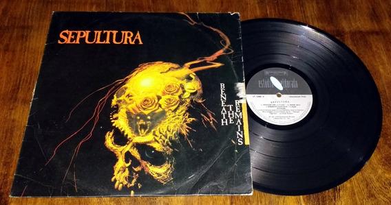 Sepultura Beneath The Remains 1989 Lp Vinilo Disco Brasil
