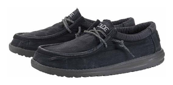 Zonazero Zapatos Nauticos Hey Dude Wally Washed Hombre