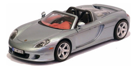 Miniatura Porsche Carrera Gt Conversível Cinza 1/24 Motormax