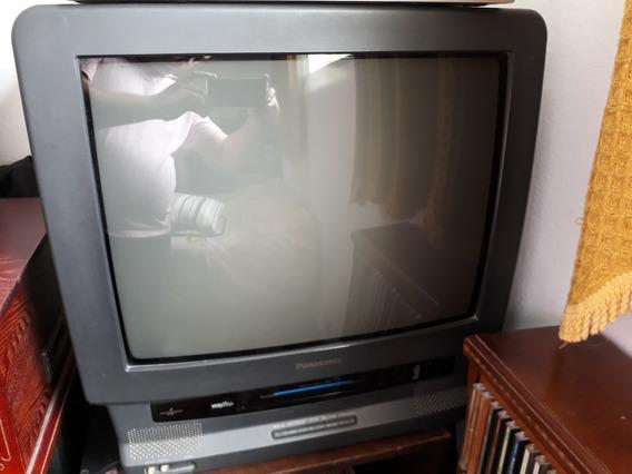 Televisão Panasonic Importada - Com Vhs (videocassete)