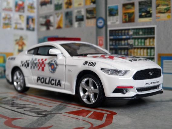 Miniatura Mustang Gt Polícia Militar Pm Sp - Atual