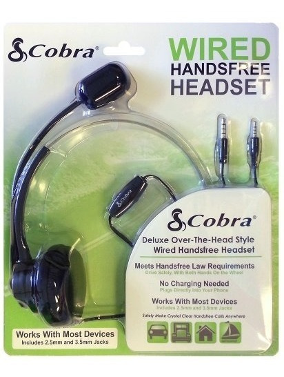 Cobra Cb-wiredhf Auriculares Estilo Manos Libres Con Cable Y