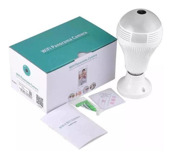 Lampada Câmera 360º Led Wifi Ip Hd 360º Espião Celular