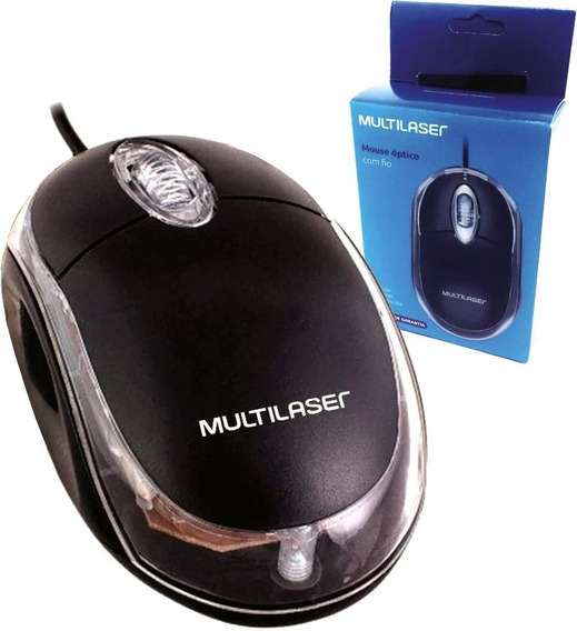 Mouse Para Notebook Multilaser Ergonômico Optico 1200dpi +nf