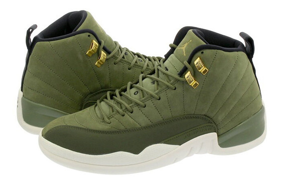 Tenis Air Jordan 12 Olive Canvas Verde 45 Ds S/ Box Retro